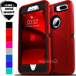 For iPhone 6 6s 7 8 Plus Shockproof Defender Hard Case Cover