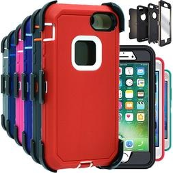 For iPhone 6 6S 7 8 Plus Shockproof Case Hard Cover Clip Fit