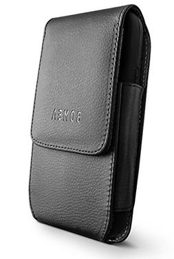 Bomea Vertical iPhone 6 6S 7 8 Leather Pouch Belt Case with