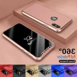 For iPhone 6 7/8 Plus XR XS Max 360°  Full Protective Hard