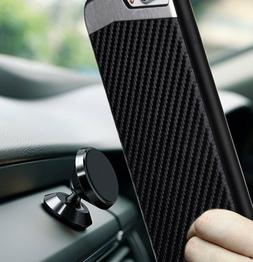 for iPhone 7/8 & 7+/8+ PLUS - Magnetic BLACK Carbon Fiber TP