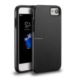 For iPhone 7 8 Case Hybrid Shockproof Hard Heavy Duty Black