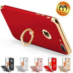 For iPhone XS X 6 6S 7 8 Plus Ring Shockproof Ultra Thin Hyb