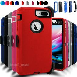 For iPhone 7/ 8 Plus Shockproof Hard Case Cover Belt Clip Fi