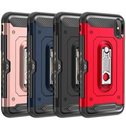For iPhone 7 8 Plus X XR XS Max Shockproof Card Slot Kicksta