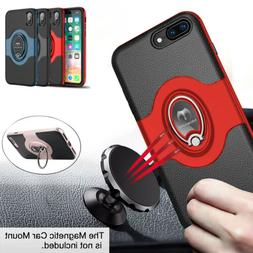 For iPhone 8 7 Plus  Shockproof Slim Case Cover+Tempered Gla