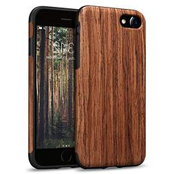 TENDLIN iPhone 8 Case/iPhone 7 Case with Wood Grain Outside