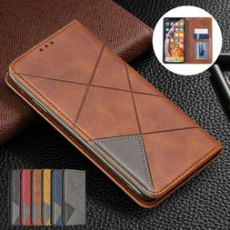 For iPhone 11 Pro 7 8 6s XS Max XR Flip Stand Leather Magnet