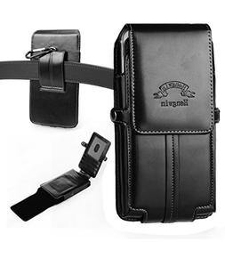 Hwin Phone Holster, Vertical High Grade Smooth PU Leather Ho