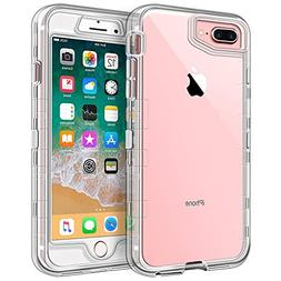 iPhone 8 Plus Case, iPhone 7 Plus Case, Anuck Crystal Clear
