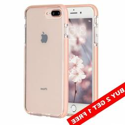 For iPhone 8Plus 7Plus Case Slim Fit Clear Silicone Pink Bum