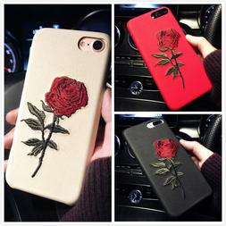 For iPhone 11 Pro Max 7 8 Slim Fit Case Retro Rose Girly Pro