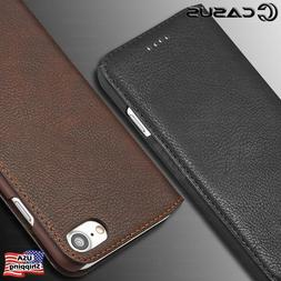 For iPhone XS MAX XR 8/7/6 Plus SLIM Genuine Leather Wallet