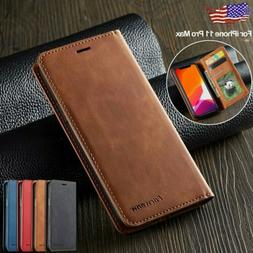 For iPhone XS Max XR 8 7 Case Leather Magnetic Flip Wallet C
