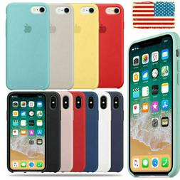 For Apple iPhone XS Max XR X 8 7 6plus Genuine Soft Silicone