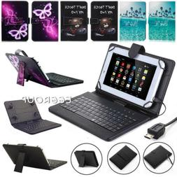 """Keyboard Leather Case Cover For Samsung Galaxy Tab A A6 7"""" 9"""