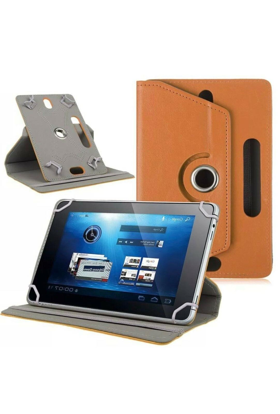 "360° Folio Leather Tablet PC 9"" 10.1"""