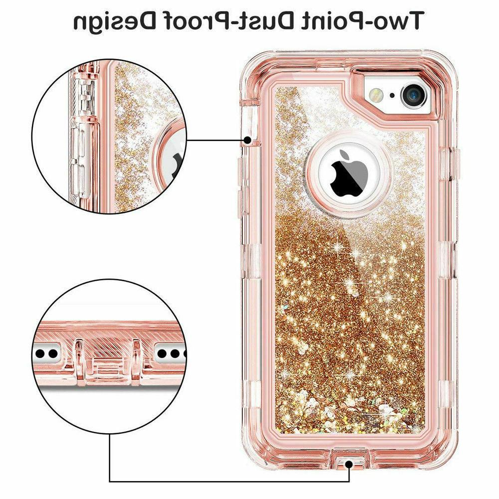 360° Glitter Bling Heavy Case For iPhone Max 7 8 6