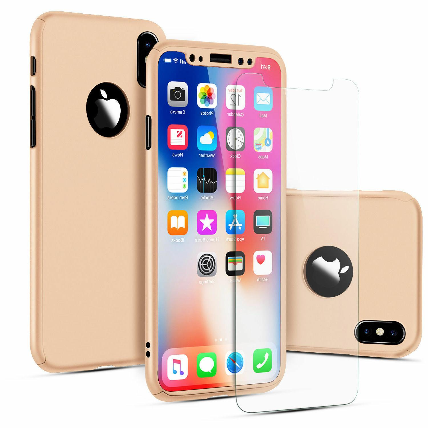 360° Full Glass Cover iPhone XS XR 8 7 Plus