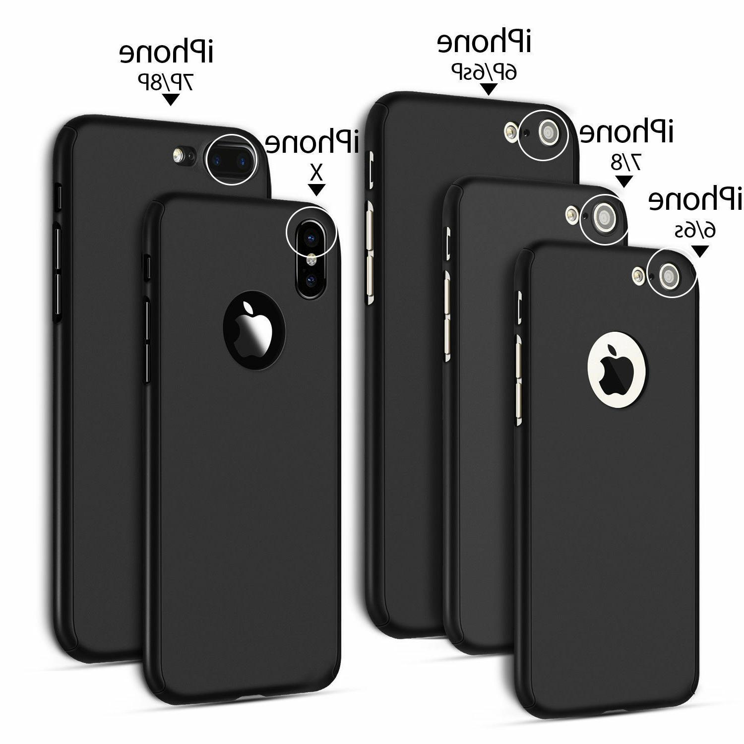 360° Glass Case Cover iPhone XS XR 6 7 Plus