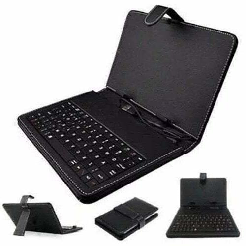 "7"" Leather Bluetooth Keyboard with Android"
