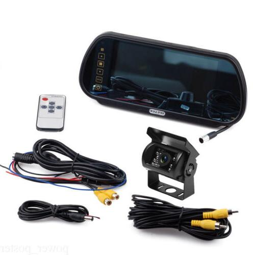 """7"""" Rear View Monitor+Metal Case CCD Camera 12/24v Truck"""