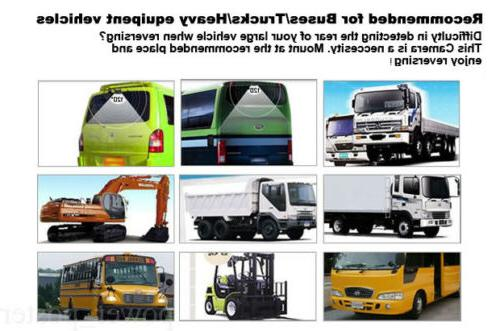 """7"""" Rear View Monitor+Metal Case CCD Camera 15m 12/24v Truck"""