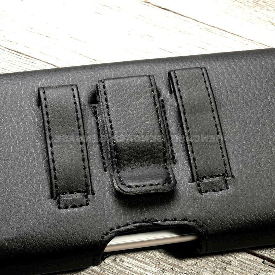 BLACK RUGGED PHONE CASE POUCH HOLSTER CLIP COVER