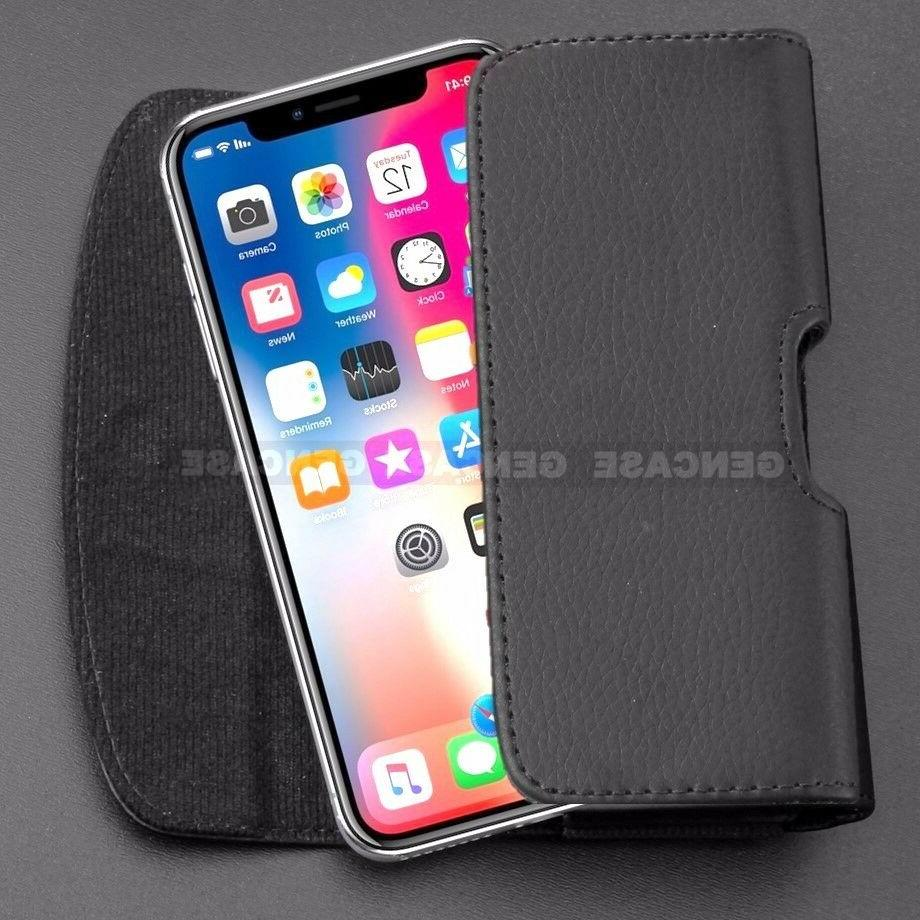 BLACK CELL PHONE CASE POUCH CLIP COVER
