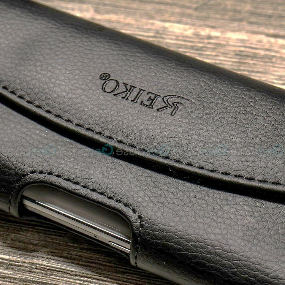 BLACK LEATHER RUGGED CLIP CARRYING COVER