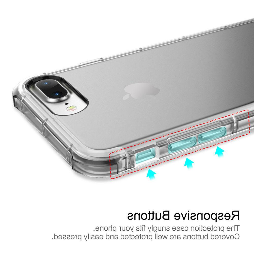 For iPhone Case Clear Hybrid Slim Shockproof Cover