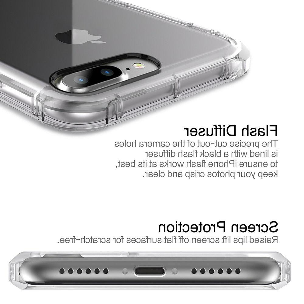 For Apple iPhone Case Clear Hybrid Shockproof Soft Bumper Cover