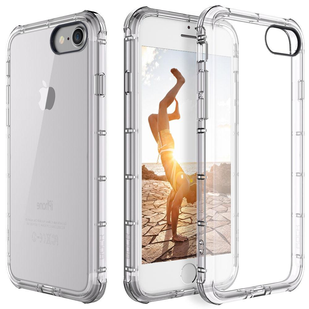 For Apple iPhone 7/8 Case Clear Hybrid Slim Shockproof Soft