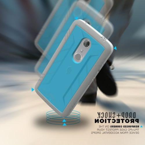 For ZTE 7 Protection Shockproof TPU Blue