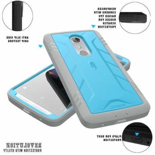 For AXON 7 POETIC Protection Shockproof TPU Blue