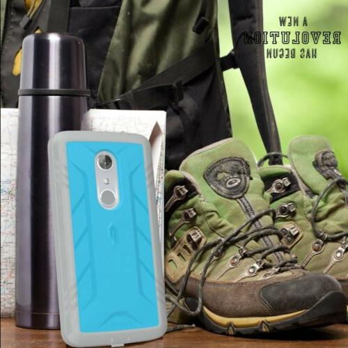 For ZTE POETIC Duty Complete Protection Shockproof TPU Blue