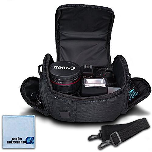 Medium Soft Padded Camera Equipment Bag / Case for Nikon, Ca