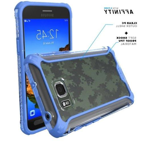 POETIC Affinity Screen Protective Case Galaxy S7 Blue