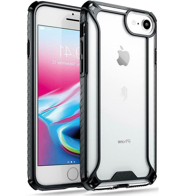 affinity tpu shockproof black clear case iphone