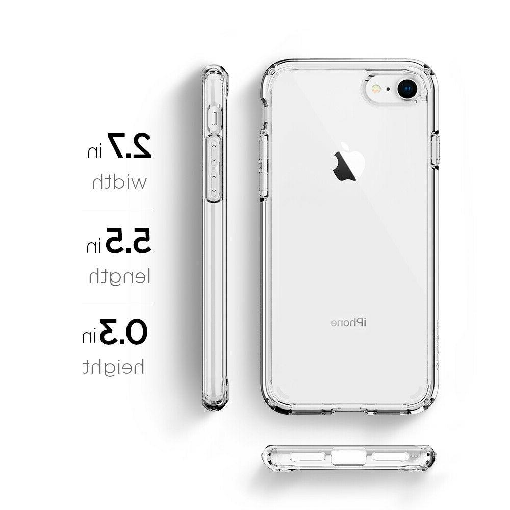 For iPhone 8 7 I Shockproof Clear TPU Cover