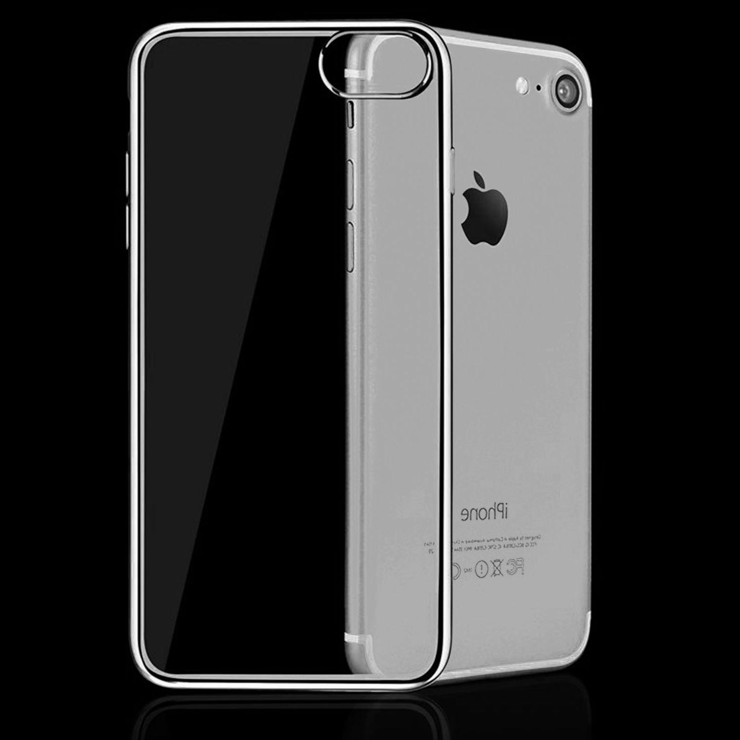 For iPhone 7 / 7 Plus Silicone Clear Rubber