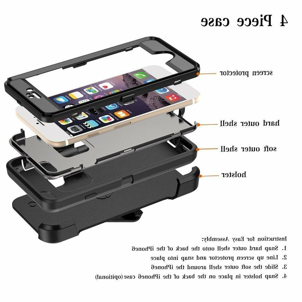 For iPhone 8 Plus Defender Case Cover Protector & Belt