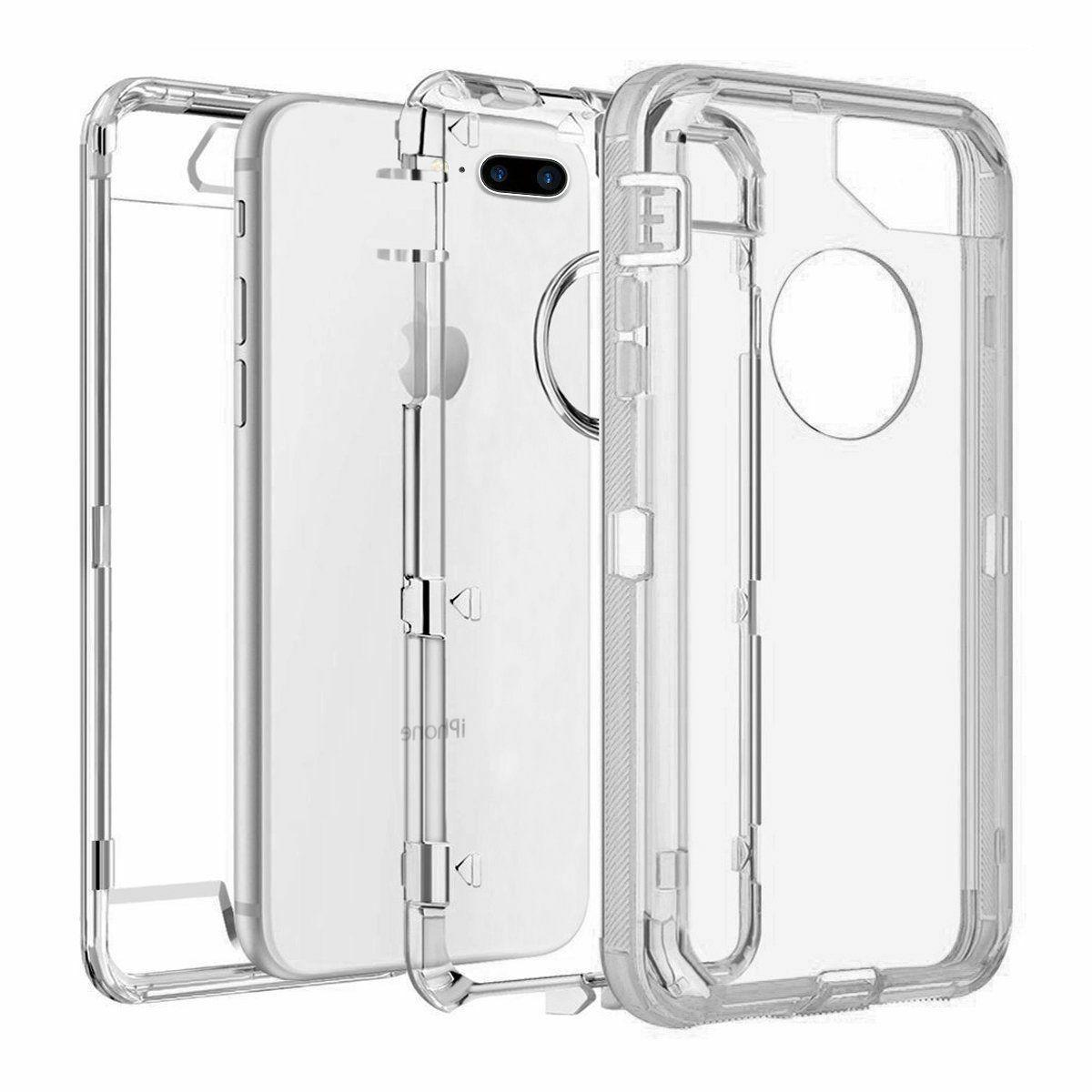 For iPhone X Plus Case Hybrid Rugged Rubber