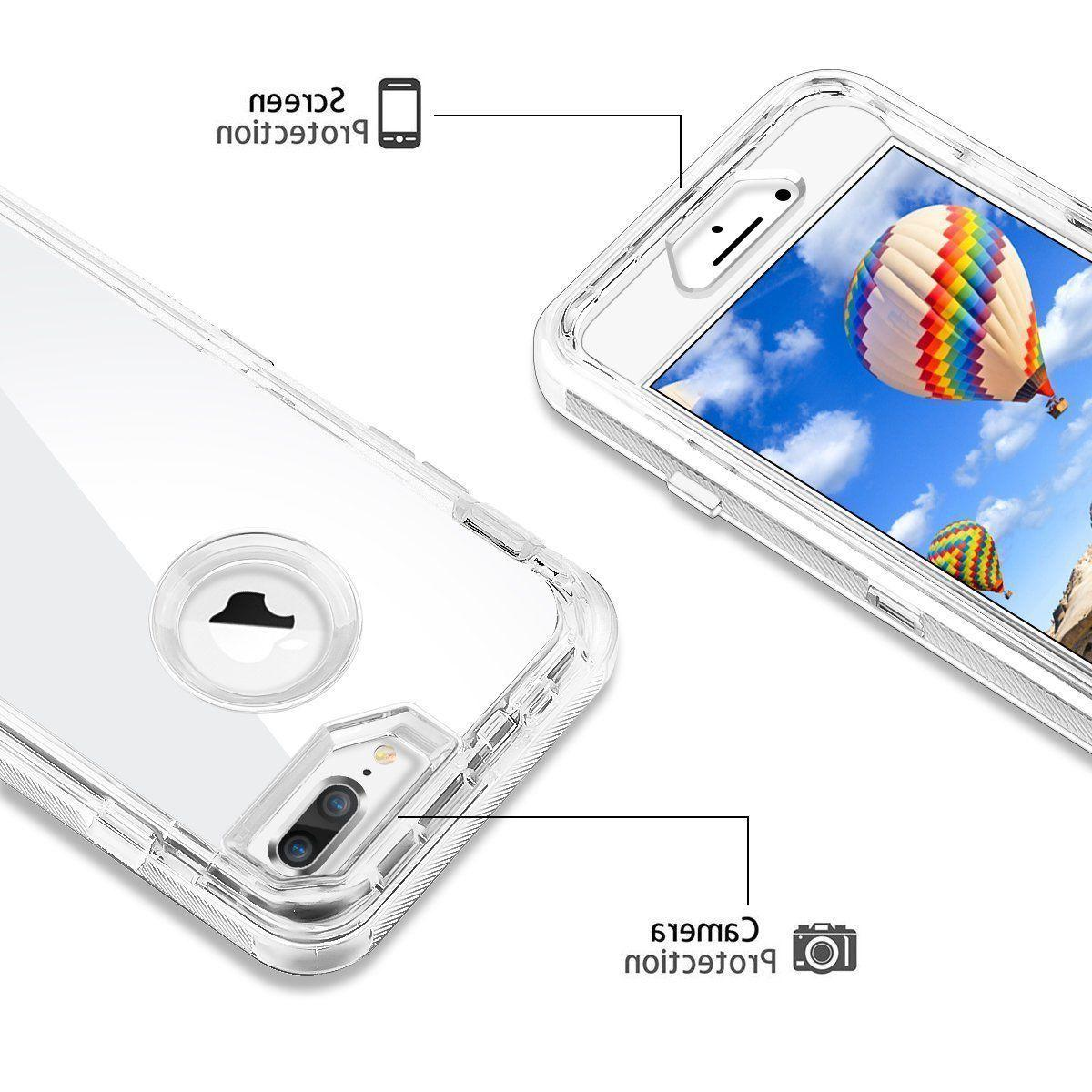 For Apple 8 Cover Rugged Rubber Clear