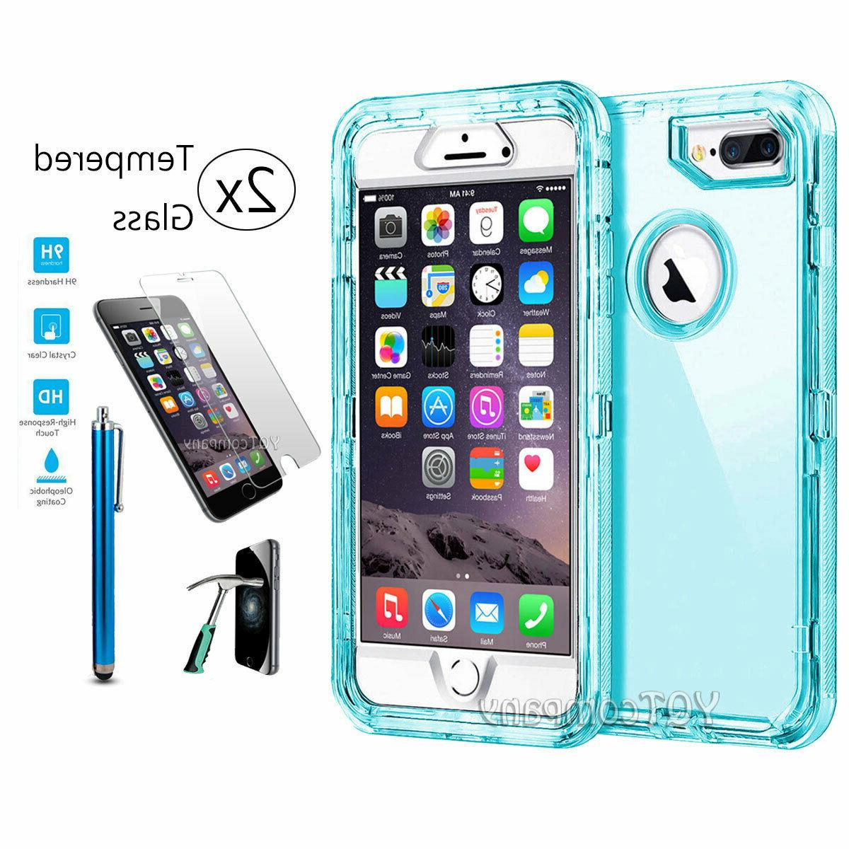 For iPhone X Plus Cover Hybrid Rugged Rubber Clear