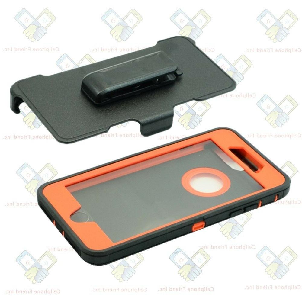For iPhone Defender Cover Black Orange