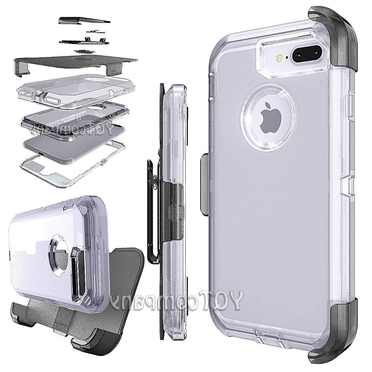 For Apple iPhone 7 Plus Case Clear Hard Hybrid Shockproof Cl