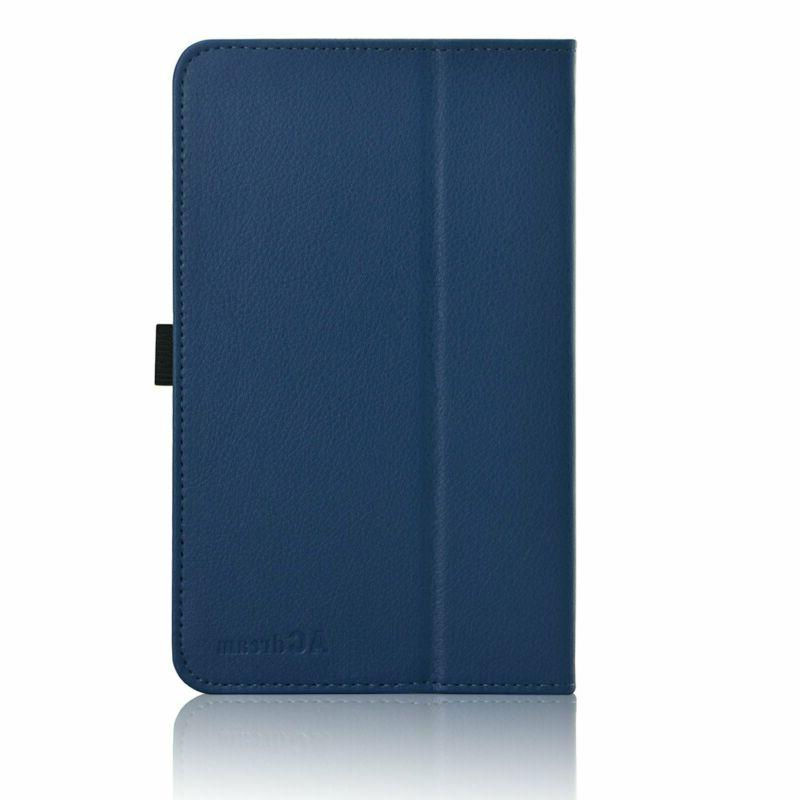 ACdream ASUS MeMO Pad 7 Case, Leather Smart Cover Blue