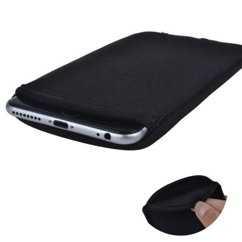 Black Neoprene Soft Sleeve Bag Pouch Phone Case Cover for iP