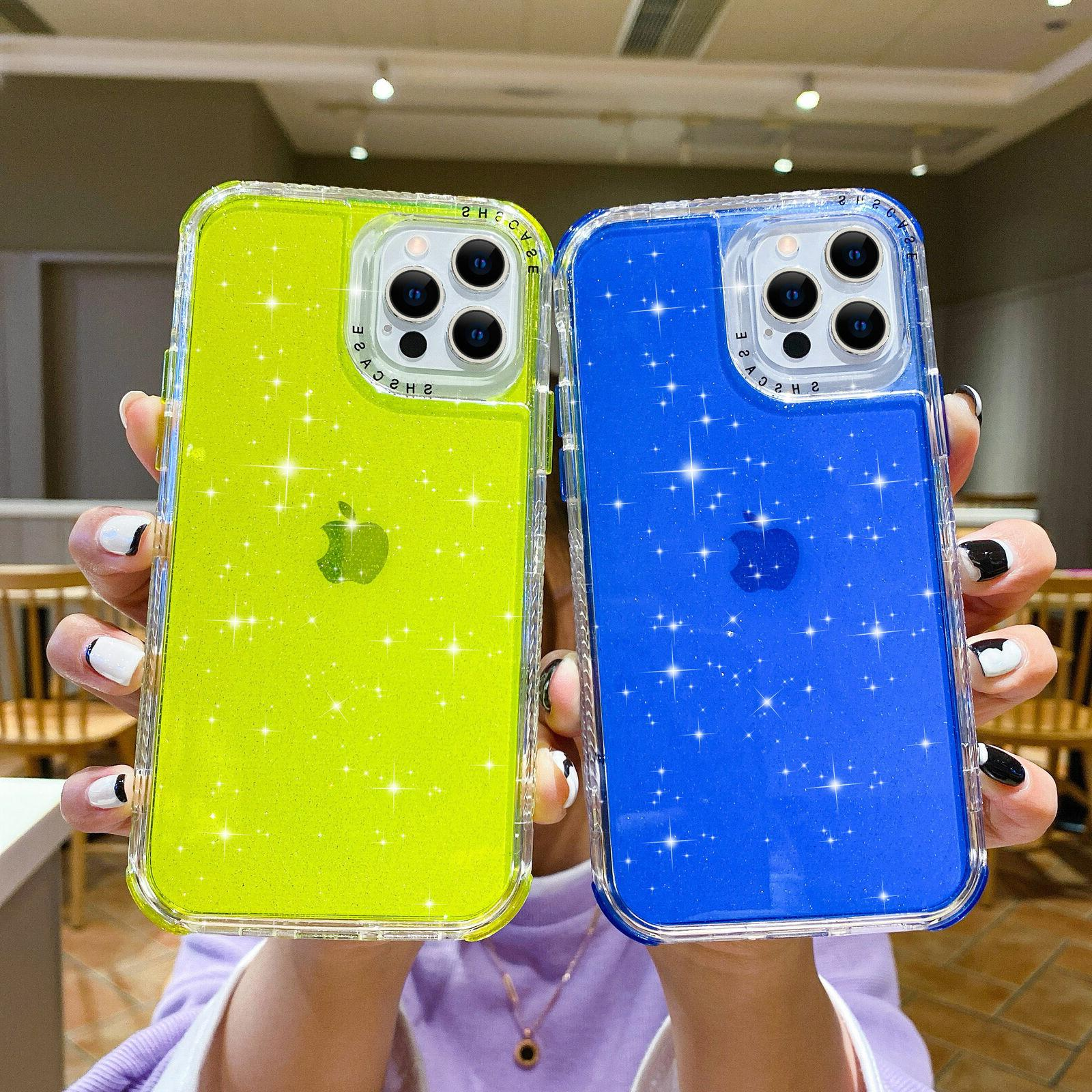 Bling Glitter Clear Case Cover For iPhone 12 11 Pro X SE 8 7